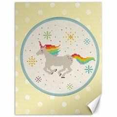Unicorn Pattern Canvas 12  X 16
