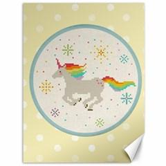 Unicorn Pattern Canvas 36  x 48