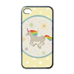 Unicorn Pattern Apple iPhone 4 Case (Black)