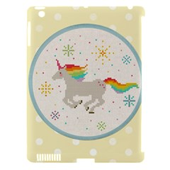 Unicorn Pattern Apple iPad 3/4 Hardshell Case (Compatible with Smart Cover)