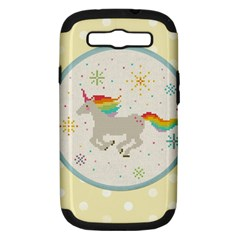 Unicorn Pattern Samsung Galaxy S Iii Hardshell Case (pc+silicone)