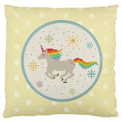 Unicorn Pattern Standard Flano Cushion Case (two Sides)