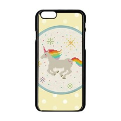Unicorn Pattern Apple Iphone 6/6s Black Enamel Case