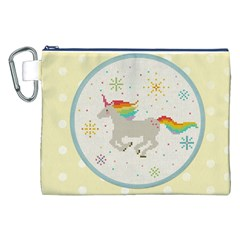 Unicorn Pattern Canvas Cosmetic Bag (XXL)