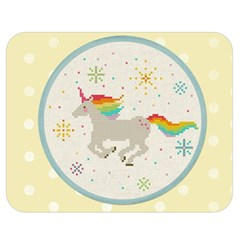 Unicorn Pattern Double Sided Flano Blanket (medium)