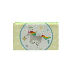 Unicorn Pattern Cosmetic Bag (xs)