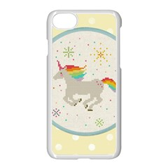 Unicorn Pattern Apple iPhone 7 Seamless Case (White)