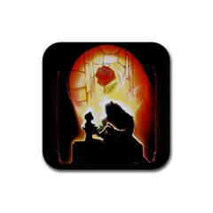 Beauty And The Beast Rubber Coaster (square)