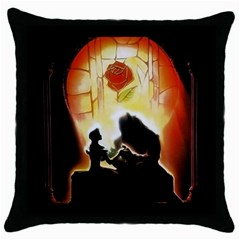 Beauty And The Beast Throw Pillow Case (Black)