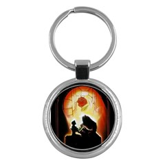 Beauty And The Beast Key Chains (round)