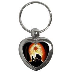 Beauty And The Beast Key Chains (heart)