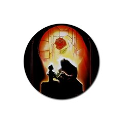Beauty And The Beast Rubber Coaster (round)
