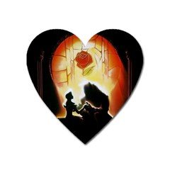 Beauty And The Beast Heart Magnet