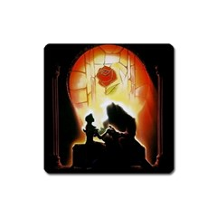 Beauty And The Beast Square Magnet