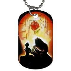 Beauty And The Beast Dog Tag (two Sides)