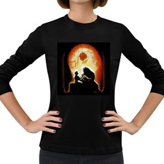 Beauty And The Beast Women s Long Sleeve Dark T-Shirts
