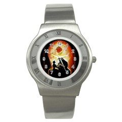 Beauty And The Beast Stainless Steel Watch