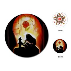 Beauty And The Beast Playing Cards (Round)