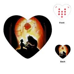Beauty And The Beast Playing Cards (heart)