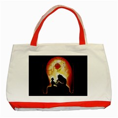 Beauty And The Beast Classic Tote Bag (red)