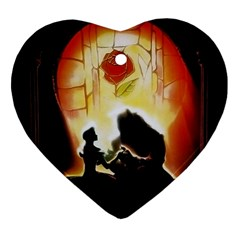 Beauty And The Beast Heart Ornament (Two Sides)