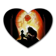 Beauty And The Beast Heart Mousepads