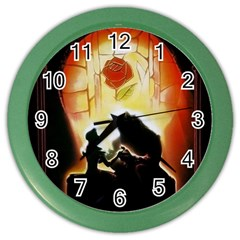 Beauty And The Beast Color Wall Clocks