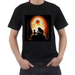 Beauty And The Beast Men s T-Shirt (Black)