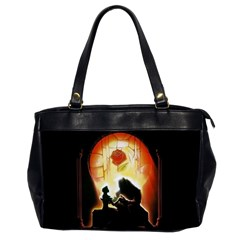 Beauty And The Beast Office Handbags (2 Sides)