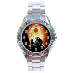Beauty And The Beast Stainless Steel Analogue Watch