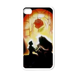 Beauty And The Beast Apple iPhone 4 Case (White)