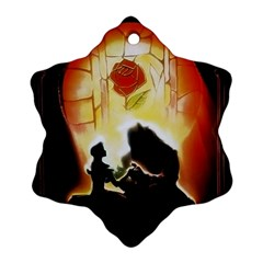 Beauty And The Beast Ornament (snowflake)