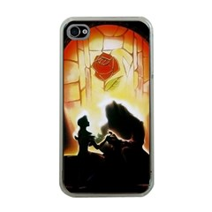 Beauty And The Beast Apple iPhone 4 Case (Clear)