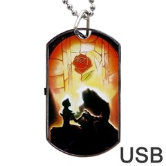 Beauty And The Beast Dog Tag USB Flash (Two Sides)