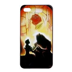 Beauty And The Beast Apple iPhone 4/4s Seamless Case (Black)