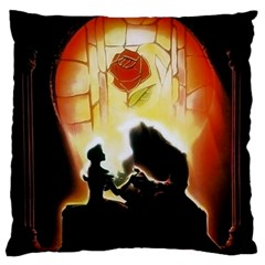 Beauty And The Beast Large Cushion Case (One Side)