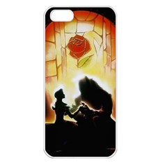 Beauty And The Beast Apple Iphone 5 Seamless Case (white)