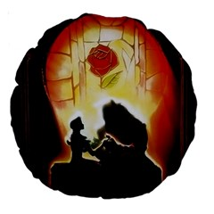 Beauty And The Beast Large 18  Premium Round Cushions