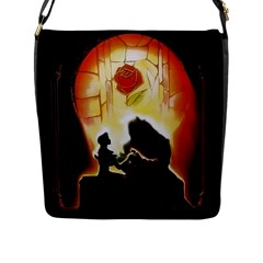 Beauty And The Beast Flap Messenger Bag (l)