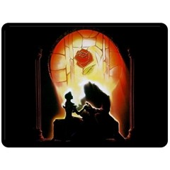 Beauty And The Beast Double Sided Fleece Blanket (Large)