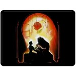 Beauty And The Beast Double Sided Fleece Blanket (Large)  80 x60 Blanket Back