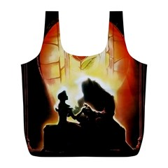 Beauty And The Beast Full Print Recycle Bags (l)