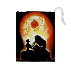 Beauty And The Beast Drawstring Pouches (large)