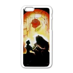 Beauty And The Beast Apple Iphone 6/6s White Enamel Case