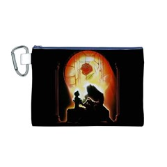 Beauty And The Beast Canvas Cosmetic Bag (m)