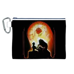 Beauty And The Beast Canvas Cosmetic Bag (l)