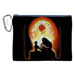 Beauty And The Beast Canvas Cosmetic Bag (xxl)