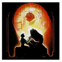 Beauty And The Beast Large Satin Scarf (square)