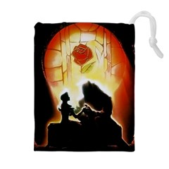 Beauty And The Beast Drawstring Pouches (Extra Large)