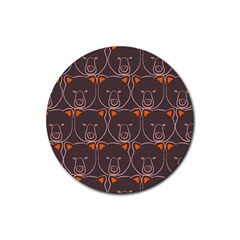 Bears Pattern Rubber Round Coaster (4 Pack)